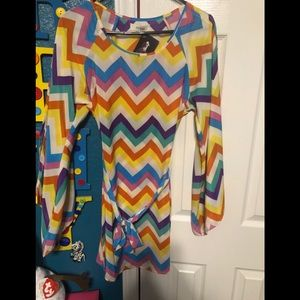 A colorful dress great for the spring time